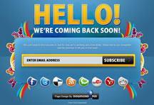 漂亮的网站订阅框按钮对话框PSD素材