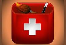 瑞士毛笔笔筒UI图标设计psd分层素材