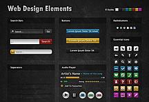 8个色系网页元素集合图标psd素材