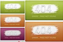 网站404网页UI界面设计PSD素材