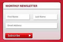 两套漂亮的邮件订阅框PSD素材