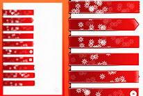 圣诞节网页导航标签红色底纹背景psd素