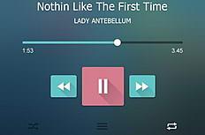 iOS7音乐播放器界面设计psd素材