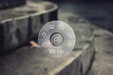 圆形菜单UI界面设计