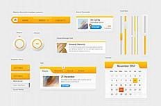 橙色网页UI设计psd素材