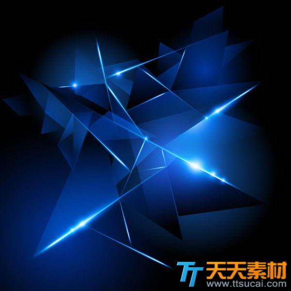 蓝色菱角光晕背景矢量图