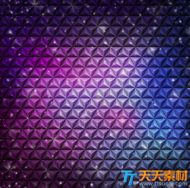 炫彩紫色立体抽象背景