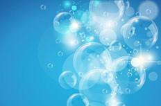 蓝色透明气泡背景矢量素材