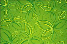 抽象笔绘树叶花纹背景矢量素材