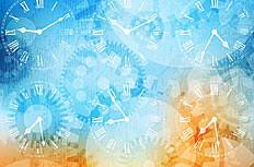 梦幻时光时钟背景矢量素材