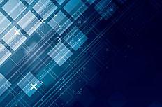 蓝色方形科技背景矢量素材
