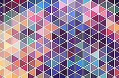 彩色霓虹三角拼接背景矢量素材