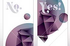 紫色异形折纸抽象banner矢量素材