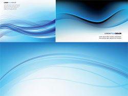3款蓝色动感线条背景矢量素材
