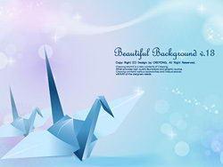 蓝色纸鹤和梦幻背景矢量素材