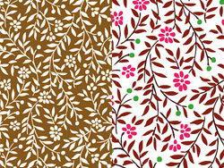 彩色小树叶小花朵背景矢量素材