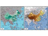中国地图版块图片矢量AI格式