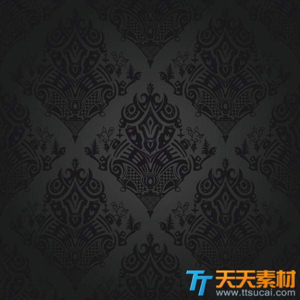 四方连续纹样图案背景矢量素材