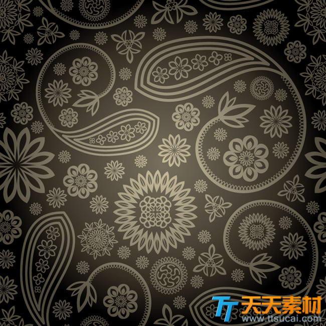 华丽欧式花纹装饰背景矢量素材