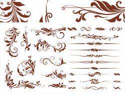 常用的花纹矢量素材