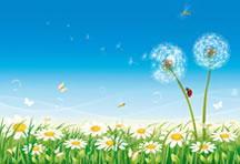 款春天花卉矢量素材图片