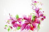 绚丽时尚潮流花纹光晕花朵矢量素材03