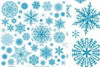精美雪花纹样矢量素材大全