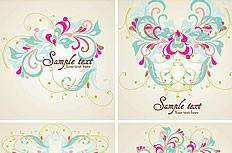 欧式清新花纹卡片设计矢量素材