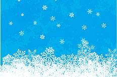 白色雪花背景矢量图下载