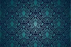 华丽蓝色花纹背景矢量素材