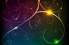 炫彩光效花纹背景矢量素材