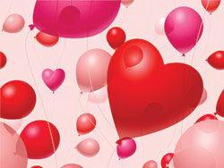 情人节气球矢量素材