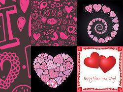 4款可爱的情人节元素矢量素材