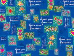 蓝色可爱情人节背景矢量素材