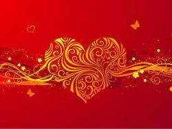大气浪漫情人节心形背景图案矢量素材