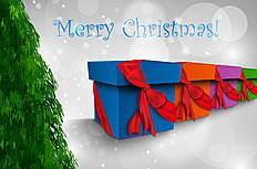 精美圣诞节圣诞礼盒插画矢量素材
