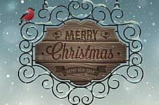 圣诞铁艺创意海报矢量素材