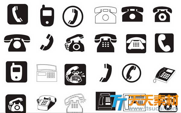 24款电话图标cdr矢量设计素材