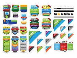 彩色特价促销装饰网页图标矢量源文件