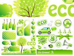 绿色低碳环保主题图标矢量素材