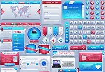 网页设计图标元素矢量素材