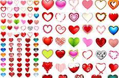 卡通Love心形装饰图标矢量素材